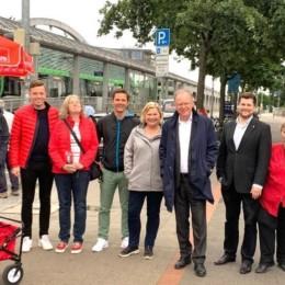 Die SPD früh vor Ort