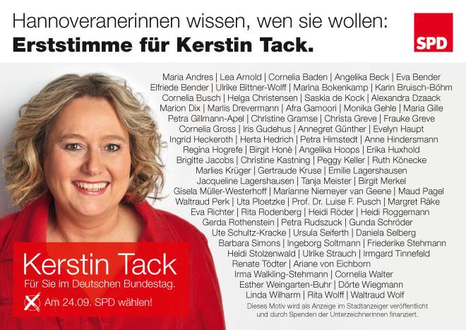 Kerstin Tack: Frauenanzeige