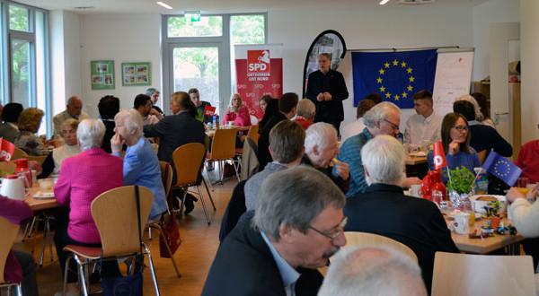 Bernd Lange, Mitglied des Europäischen Parlaments, bei seiner Rede
